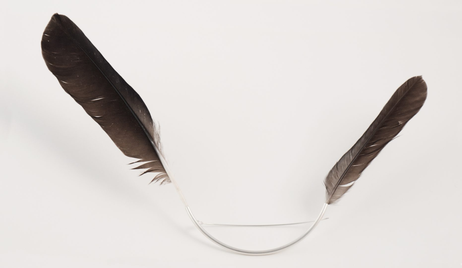 Broche 3 - Le Rire du Corbeau - Empreinte d'un oiseau en vol