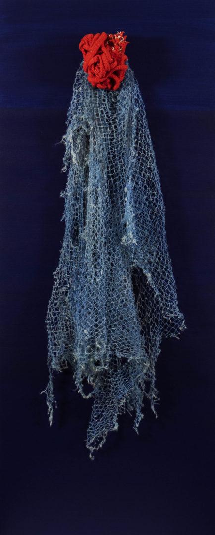 Attache-cœur - Toile acrylique, cordage et filet