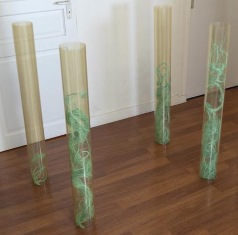 Espoir englouti - Feuilles plastiques et cordages