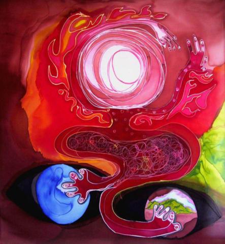 Peintures sur soie par Jeong Hee