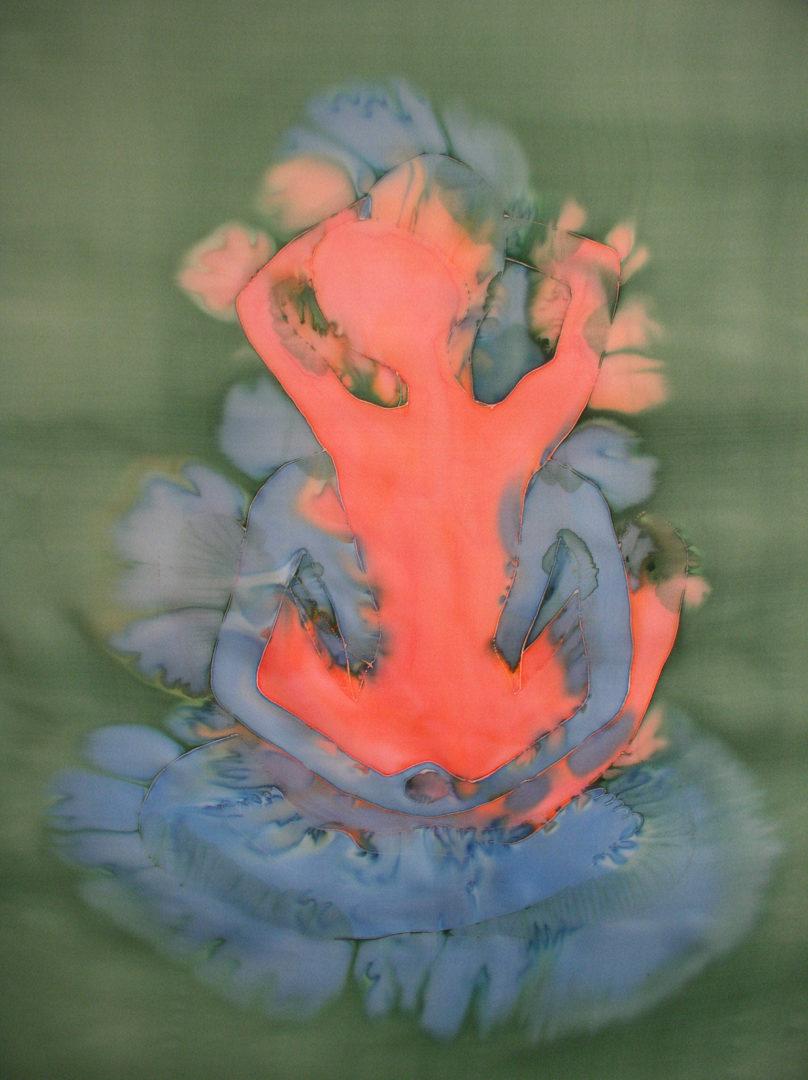 Peintures sur soie.