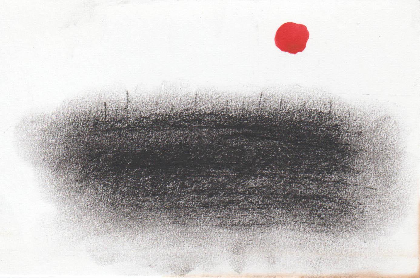 Dessins charbon et peinture sur papier par Jeong Hee